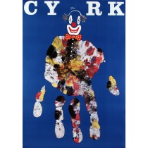 Circus Blue Hand Andrzej Pągowski Polish Poster