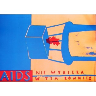 Aids 1 Sebastian Kubica Polish Poster Art Advertising Tourism Travels Political Sport Judaica Posters