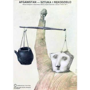 Afghanistan Art and Handcraft Stasys Eidrigevicius Polish Exhibition Posters