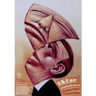 Actor Boguslaw Schaeffer Leszek Żebrowski Polish Theater Posters