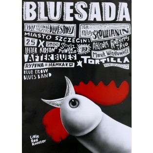 Bluesada Blues Festival Leszek Żebrowski Polish Music Posters
