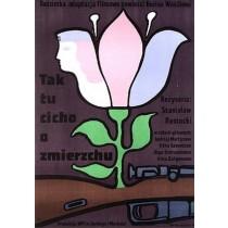 Morgendämmerung ist hier still, Im Morgengrauen ist es noch still Jan Młodożeniec Polnische Plakate