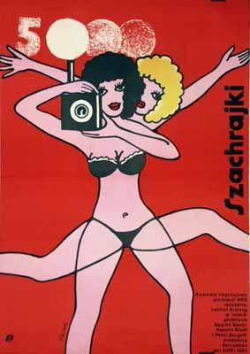 Szachrajki Helmut Krätzig Polish Movie Poster