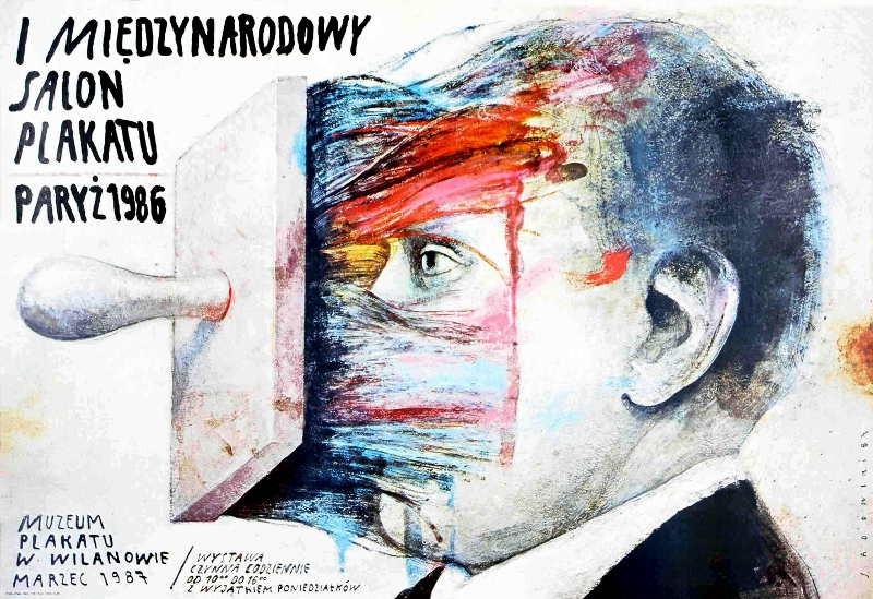 Wiktor Sadowski Międzynarodowy salon plakatu Paryż 1986