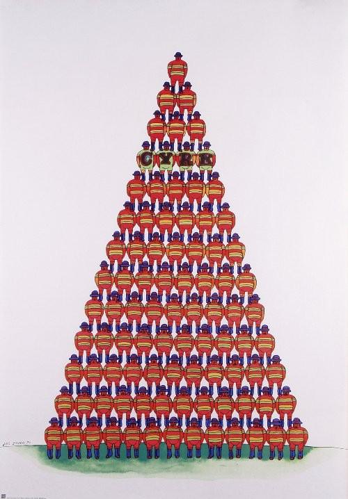 Circus Pyramid of Acrobats