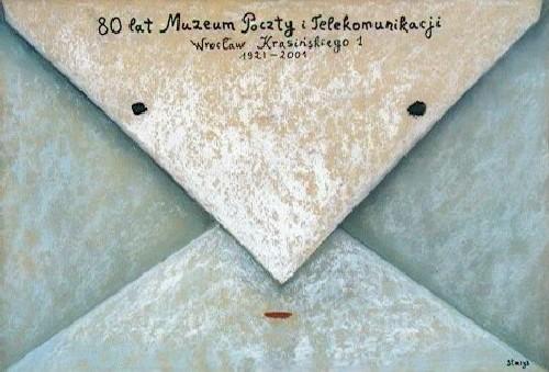 Stasys Eidrigevicius 80 lat poczty i komunikacji