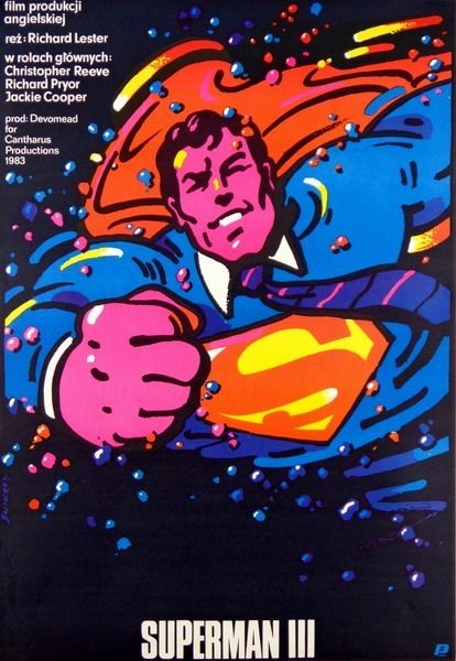 Superman III Richard Lester film Poster