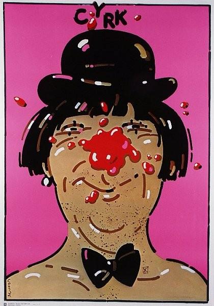 Waldemar Świerzy Polish Circus poster Cyrk clown