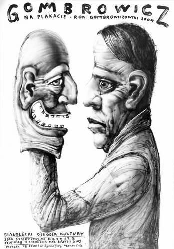 Witold Gombrowicz na plakacie