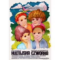 Hultajska czwórka Hanna Bodnar Polish Poster