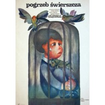 Funeral of the cricket Wojciech Fiwek Hanna Bodnar Polish Poster