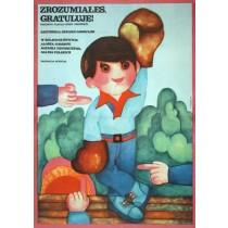 Afterthought Had Hit You, Congratulations! Eduard Gavrilov Hanna Bodnar Polish Poster
