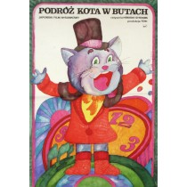 Puss N Boots Travels Around the World Hiroshi Shidara Hanna Bodnar Polish Poster