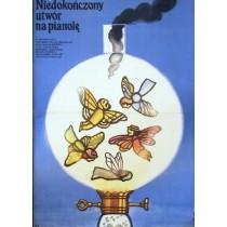 An Unfinished Piece for a Player Piano Nikita Mikhalkov Jerzy Flisak Polish Poster