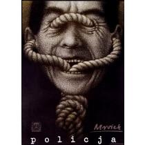 Police Sławomir Mrożek Mieczysław Górowski Polish Poster