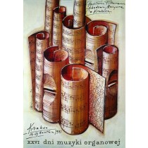 Days of Organ Music 26th  Mieczysław Górowski Polish Poster