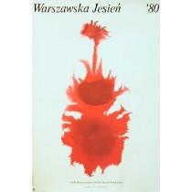 Warsaw Autumn Festival 1980 Hubert Hilscher Polish Poster