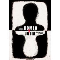 Romeo and Juliet, Łódź Ryszard Kaja Polish Poster