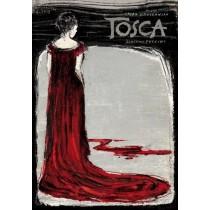 Tosca Puccini Tosca Ryszard Kaja Polish Poster