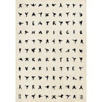 Karate variete Ryszard Kaja Polish Poster
