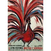 Festival Musik from Kórnik Ryszard Kaja Polish Poster