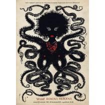 Vamp, domina, heroin Ryszard Kaja Polish Poster