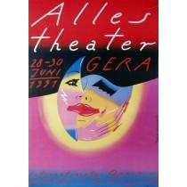 Alles Theater Gera 1991 Roman Kalarus Polish Poster