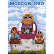 Moscow 1980 Leonard Konopelski Polish Poster