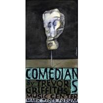 Comedians and Trevor Griffiths Music Center Leonard Konopelski Polish Poster
