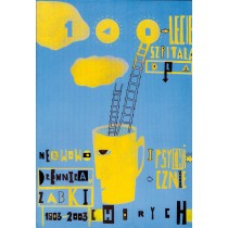 Hospital for nervous and mental diseases The 100th anniversary Sebastian Kubica Polish Poster