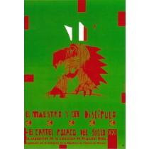 El maestro y el discipulo Sebastian Kubica Polish Poster