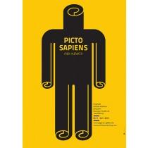 Picto Sapiens Irek Kuriata Polish Poster