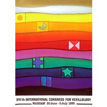 International Congress for Vexillology XVI th Jan Lenica Polish Poster