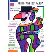 Poland whats nearer? Jan Lenica Polish Poster
