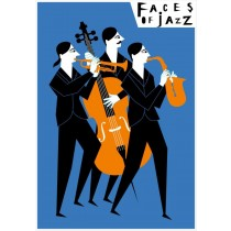 Faces of jazz  Polish Poster