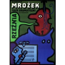 Slaughterhouse Sławomir Mrożek Jan Młodożeniec Polish Poster