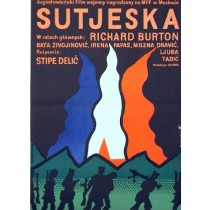 Battle of Sutjeska Stipe Delic Jan Młodożeniec Polish Poster