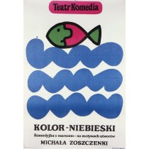 Mikhail Zoshchenkos the Blue Book Jan Młodożeniec Polish Poster