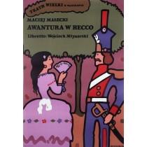 Awantura w Recco Maciej Małecki Jan Młodożeniec Polish Poster