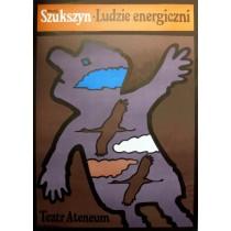 Energetic People Jan Młodożeniec Polish Poster
