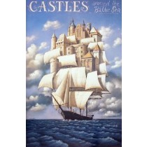 Castles around the Baltic Sea Rafał Olbiński Polish Poster