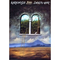 Karkonosze 2000 Mountain Festival Rafał Olbiński Polish Poster