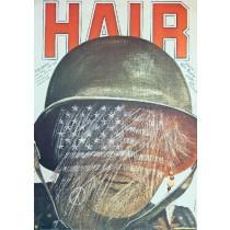 Hair Milos Forman Andrzej Pągowski Polish Poster