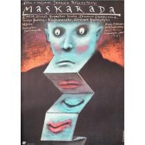Masquerade Janusz Kijowski Andrzej Pągowski Polish Poster