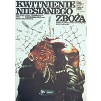 Cwietieniye niesieyannoy rzhy Marionas Gedris Marek Płoza-Doliński Polish Poster