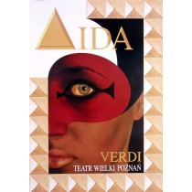 Aida Giuseppe Verdi Jean-Antoine Hierro Polish Poster