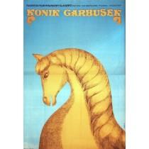 Humpbacked Horse Aleksandr Rou Wanda Jondziel-Banach Polish Poster
