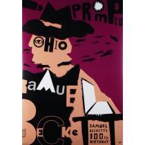 Samuel Becketts 100th birthday Piotr Kossakowski Polish Poster
