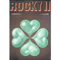 Rocky II Sylvester Stallone Edward Lutczyn Polish Poster