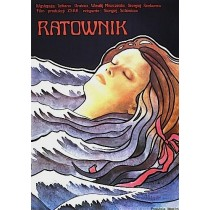 The Rescuer Sergei Solovyov Krystyna Hoffman-Pągowska Polish Poster
